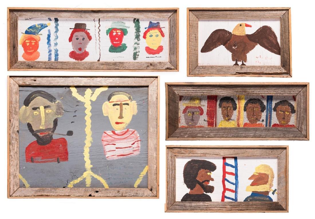 5 Robyn Beverland Folk Art Paintings