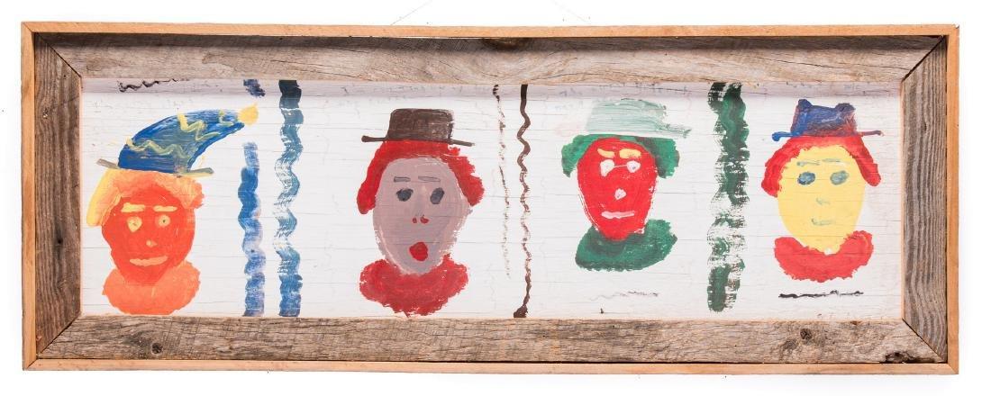 5 Robyn Beverland Folk Art Paintings - 3