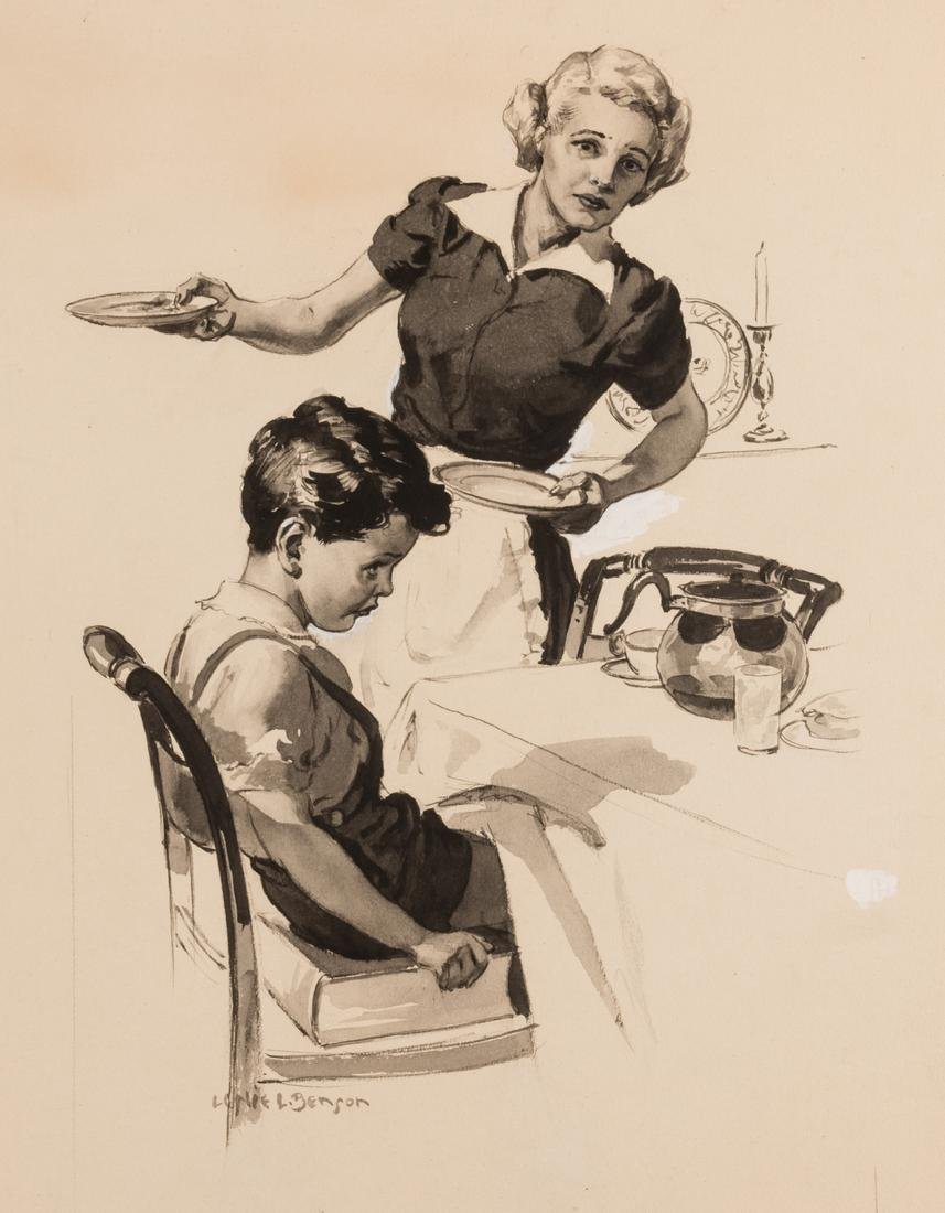 2 Leslie Benson illustration paintings - 6