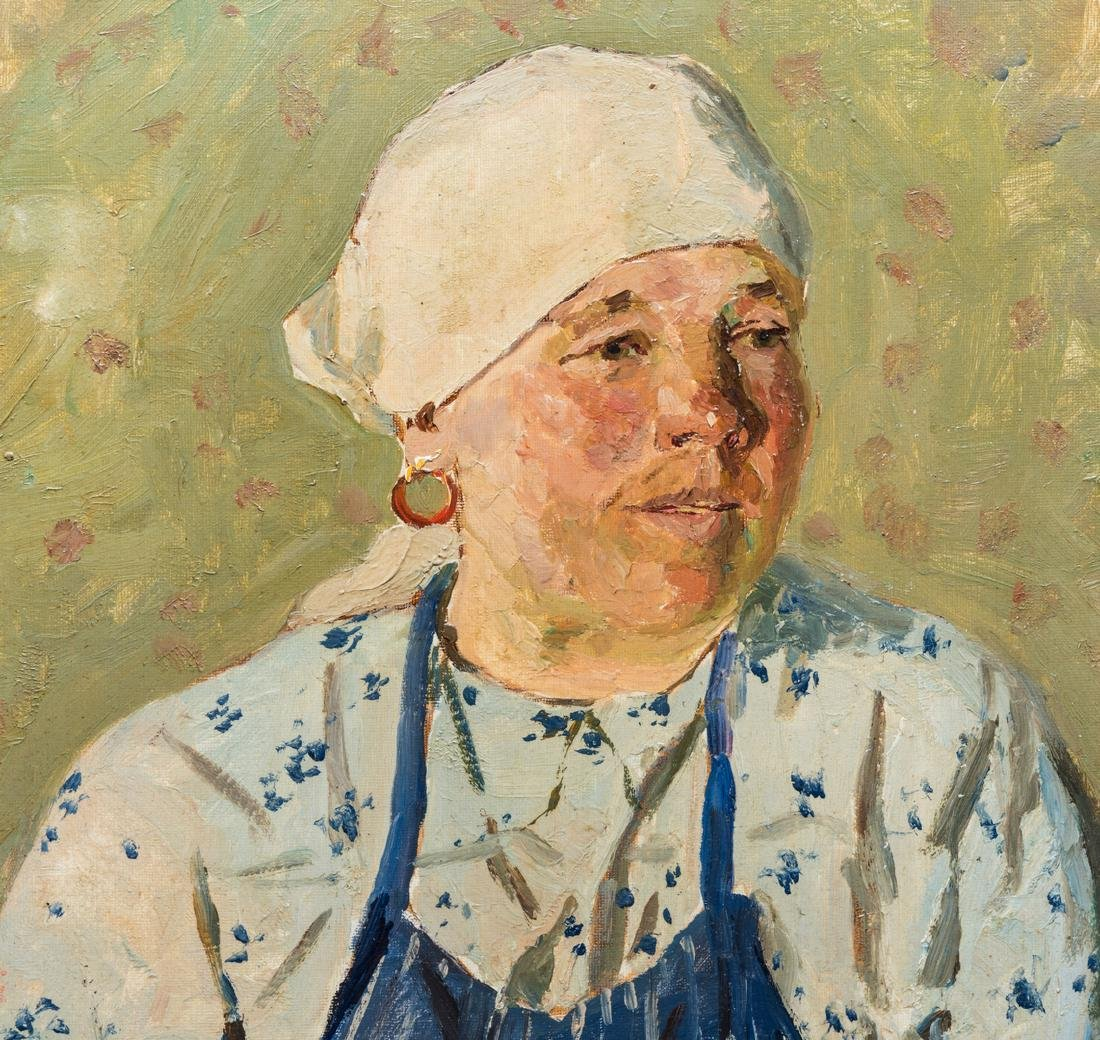 G. Goncharov Oil on Board Portrait - 3