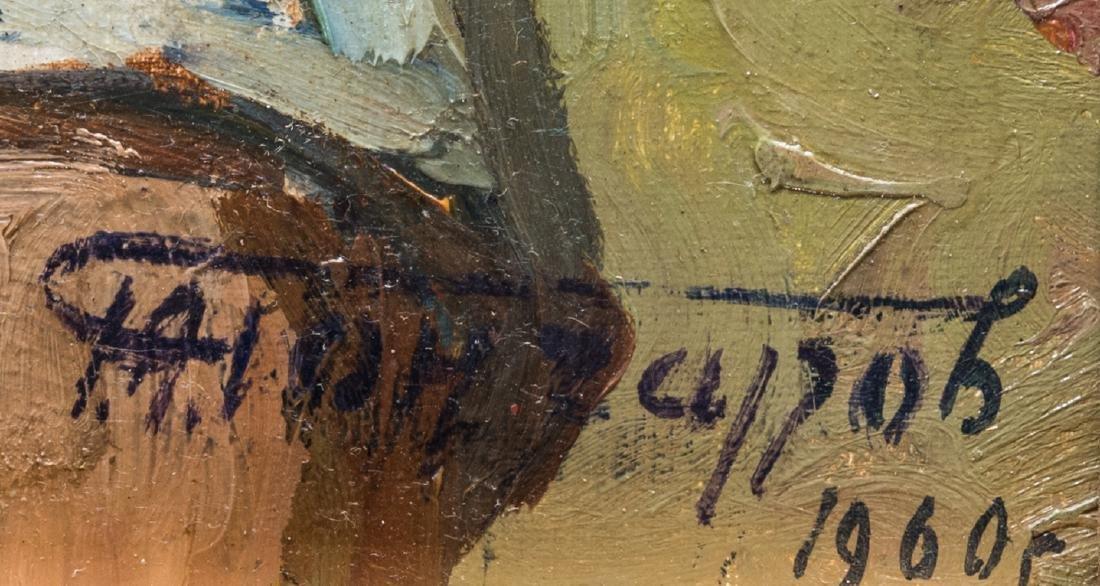 G. Goncharov Oil on Board Portrait - 4