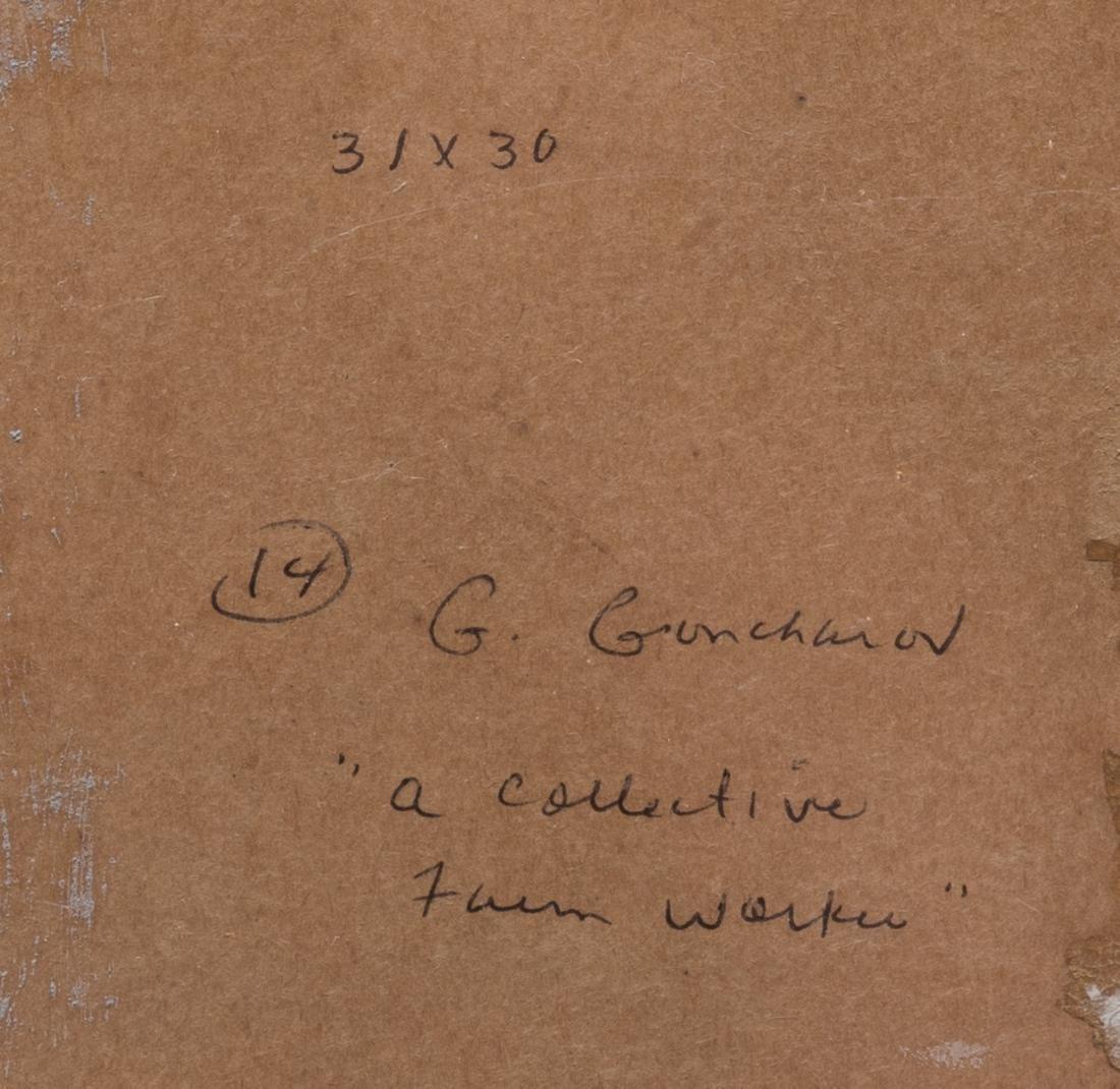 G. Goncharov Oil on Board Portrait - 7