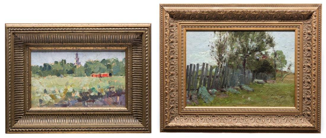2 Russian School Impressionist Landscapes