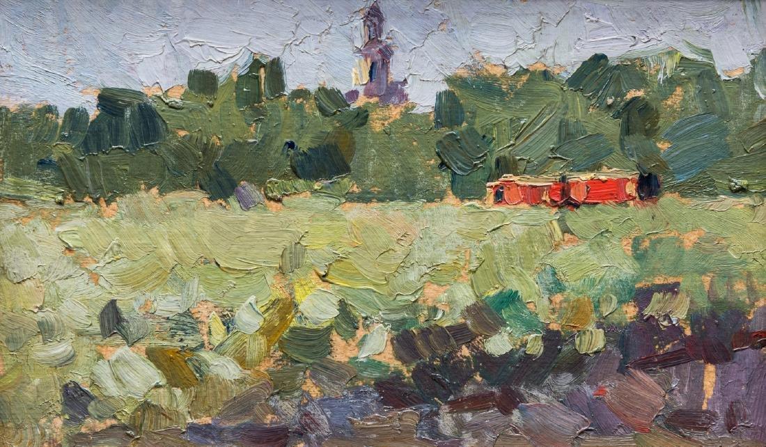2 Russian School Impressionist Landscapes - 3