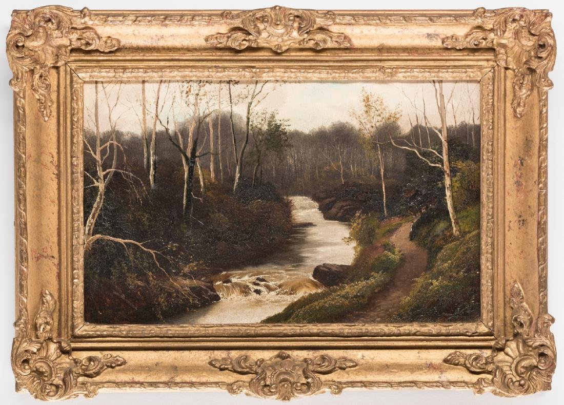 Henry Robinson Hall, O/C, Stream with Birch Trees - 10
