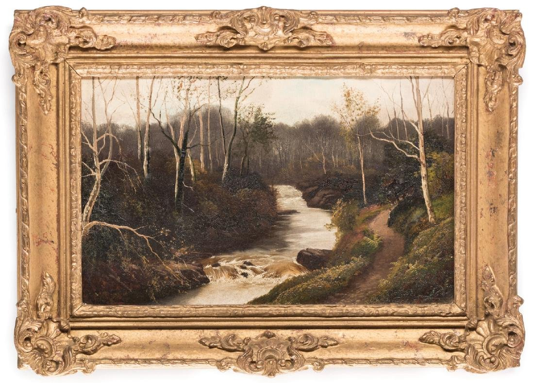 Henry Robinson Hall, O/C, Stream with Birch Trees