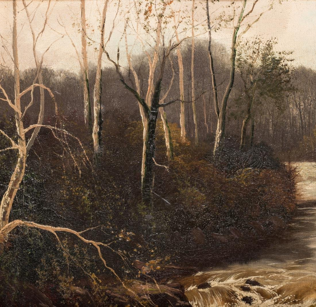 Henry Robinson Hall, O/C, Stream with Birch Trees - 4