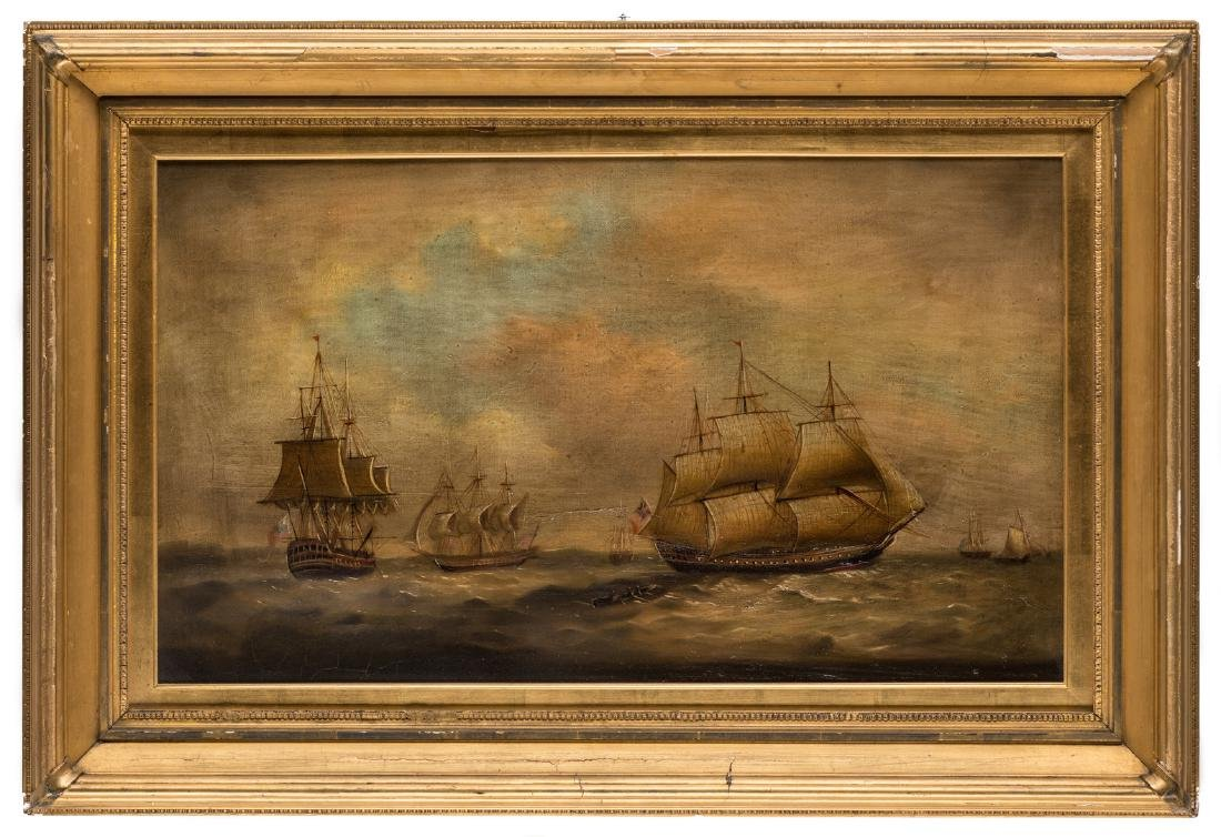19th Century Maritime Oil Painting