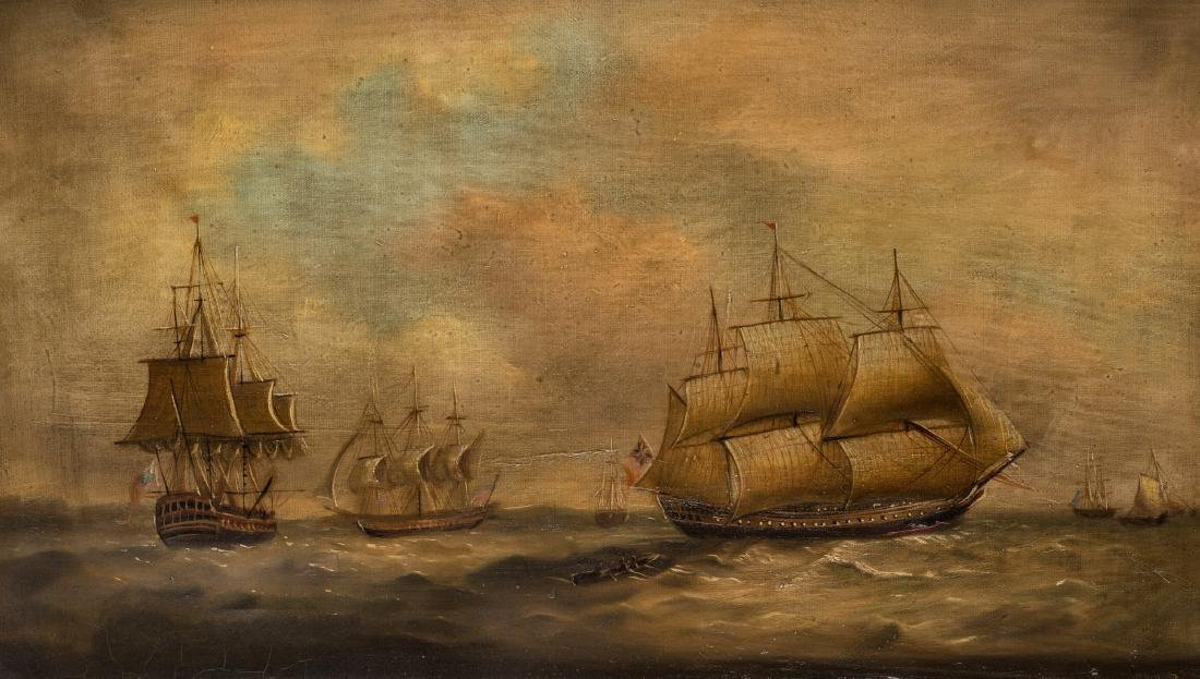 19th Century Maritime Oil Painting - 2