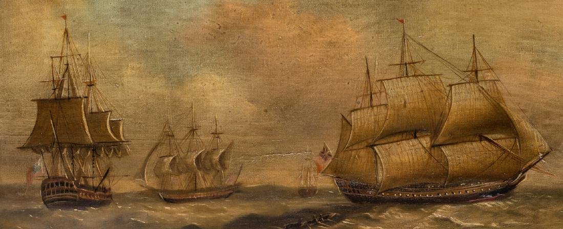 19th Century Maritime Oil Painting - 3