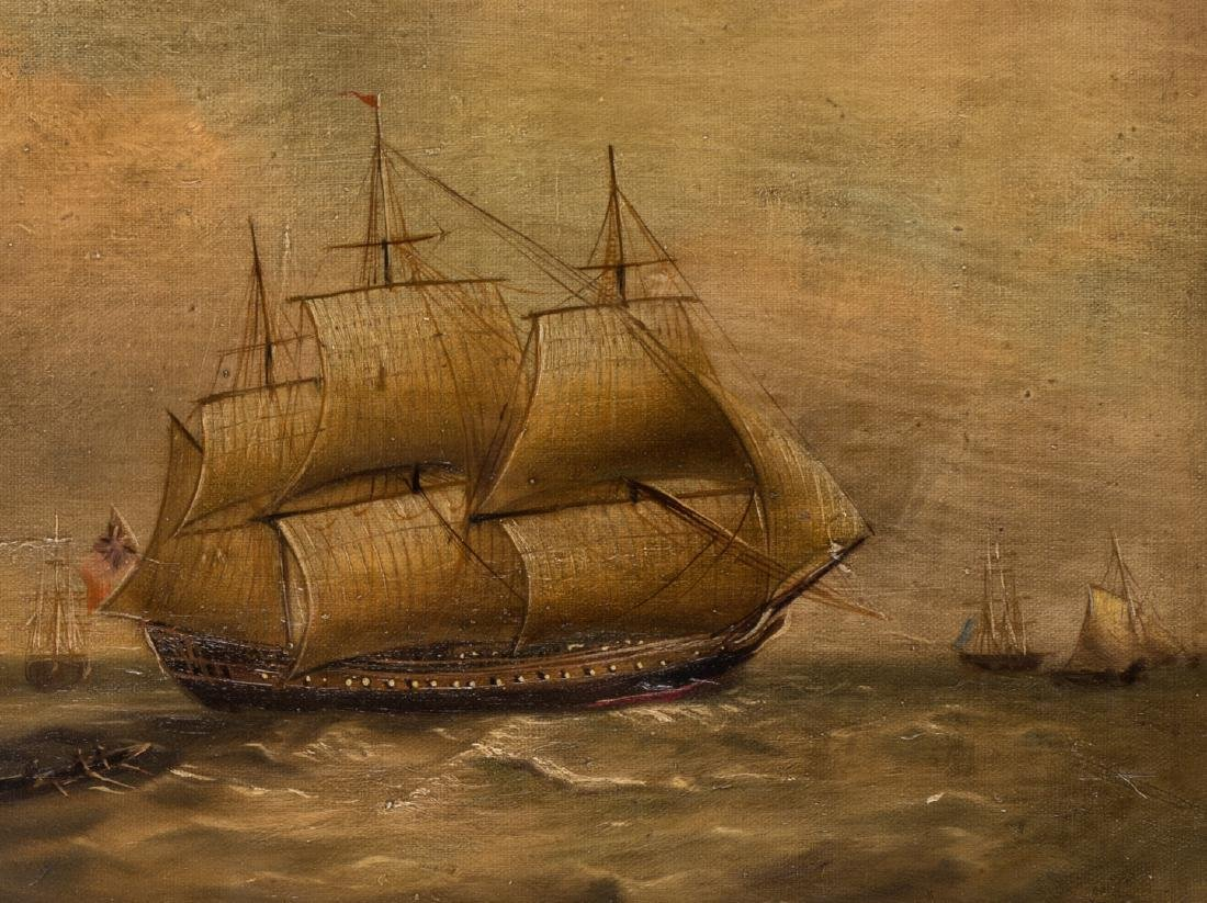 19th Century Maritime Oil Painting - 4