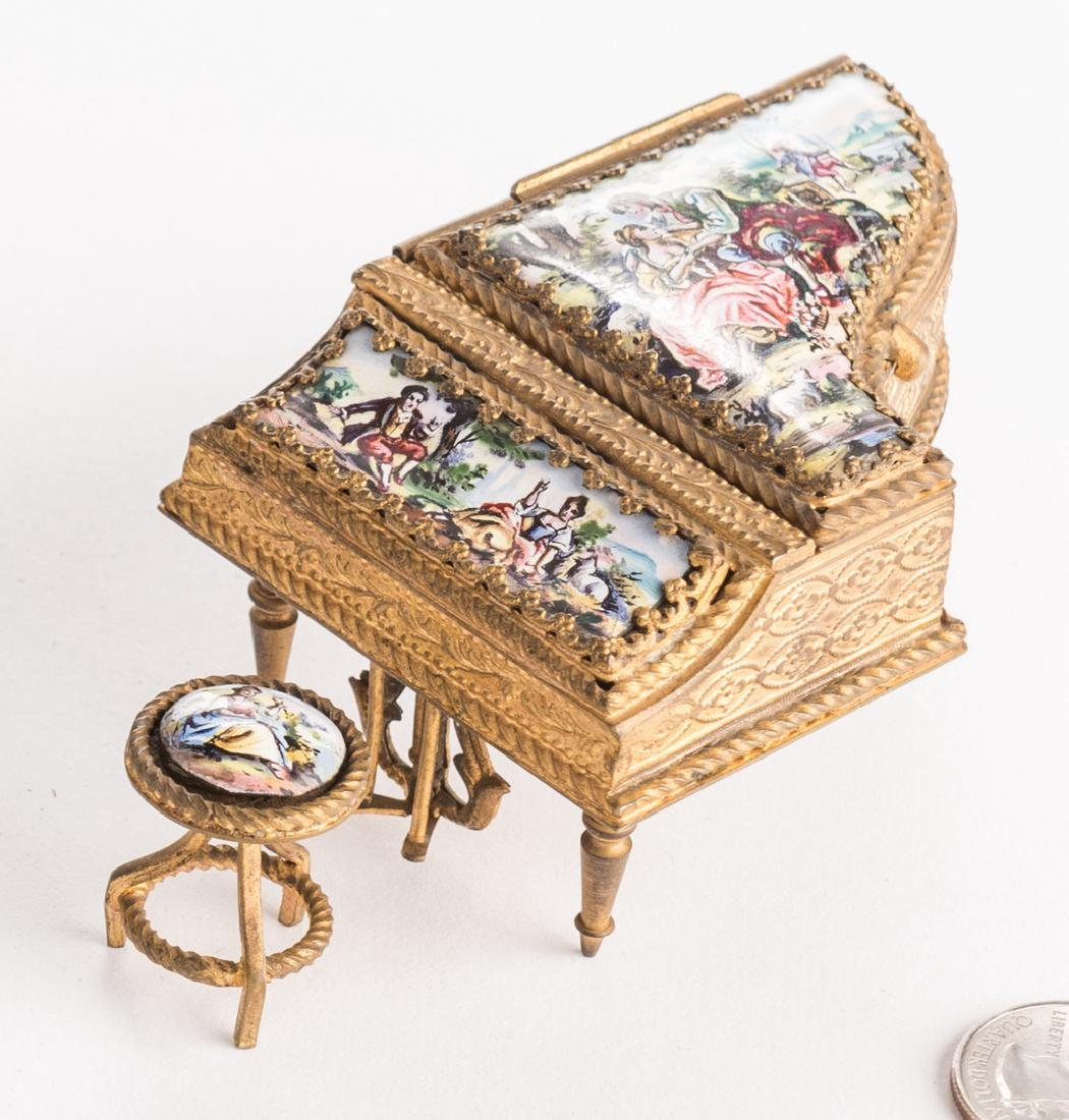 Grouping Viennese Enamels, incl Small Piano - 2