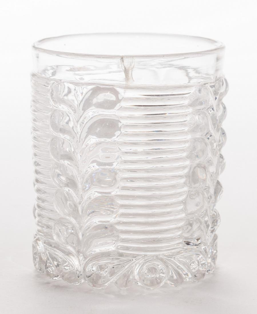 3 French Sulfide Glass Tumblers - 10