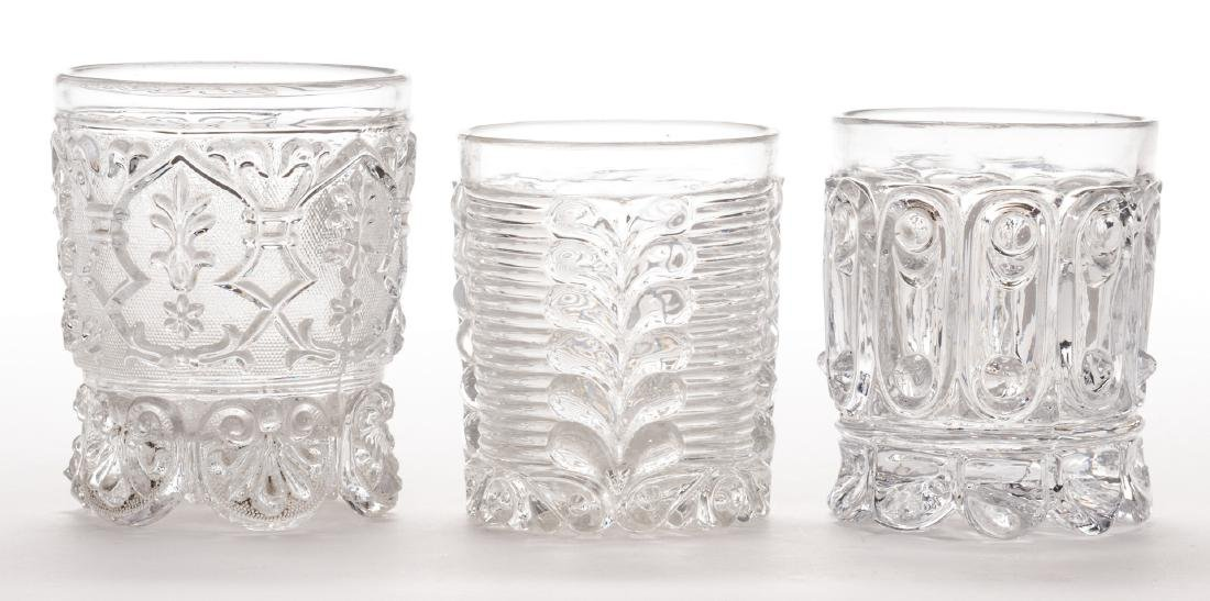 3 French Sulfide Glass Tumblers - 4