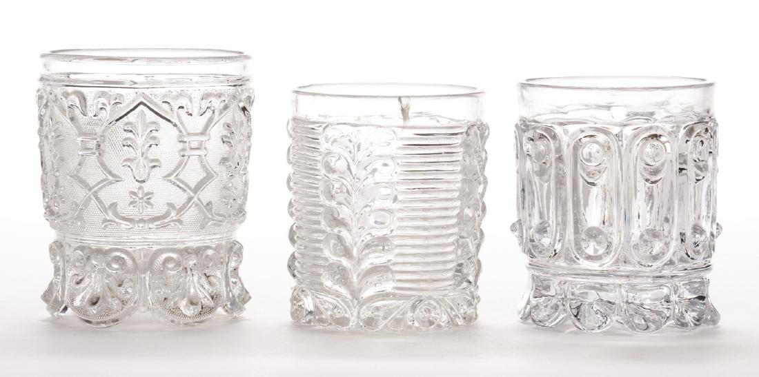3 French Sulfide Glass Tumblers - 5