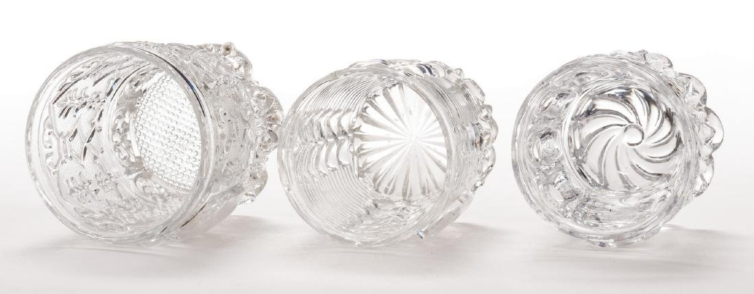 3 French Sulfide Glass Tumblers - 7