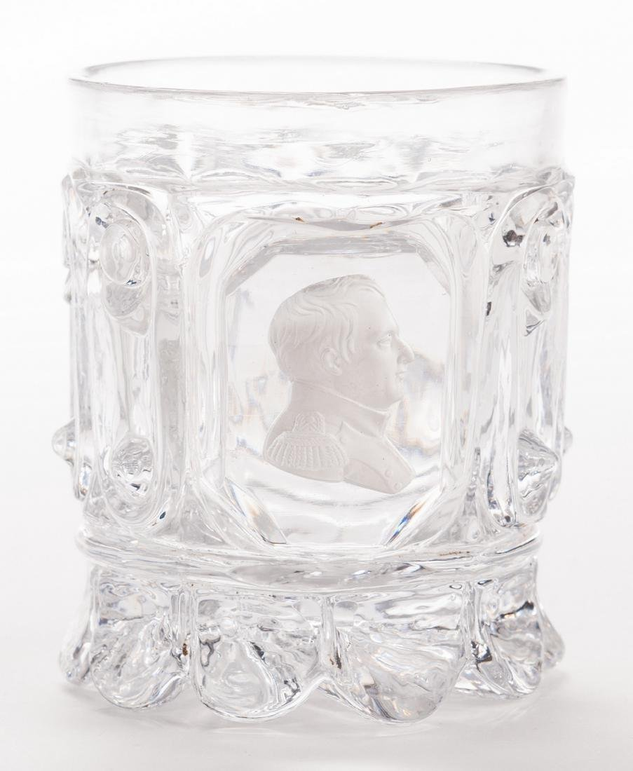 3 French Sulfide Glass Tumblers - 9