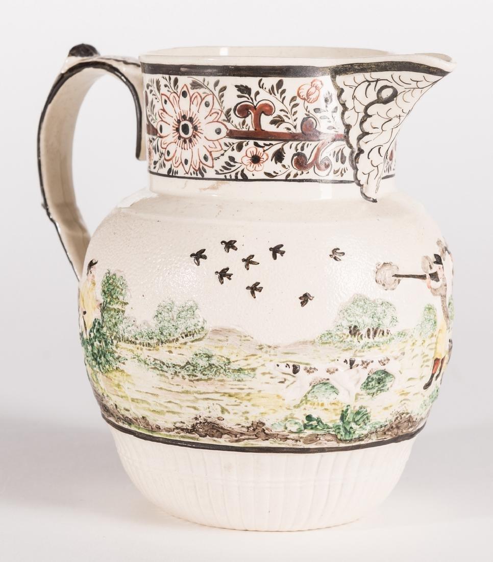 Creamware Hunt Jug, Dr. Wall Dish and Pearlware Bowl - 5