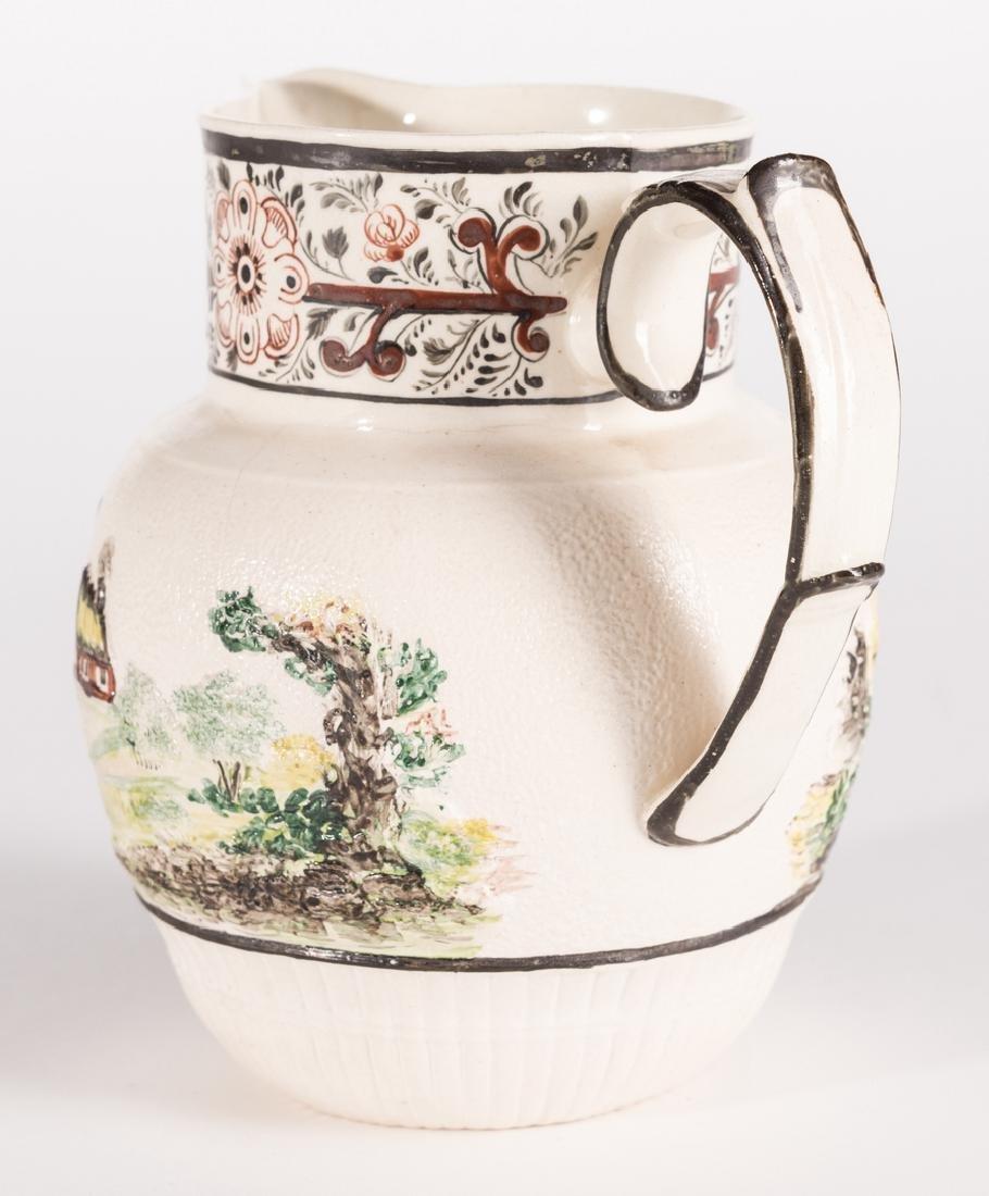 Creamware Hunt Jug, Dr. Wall Dish and Pearlware Bowl - 6