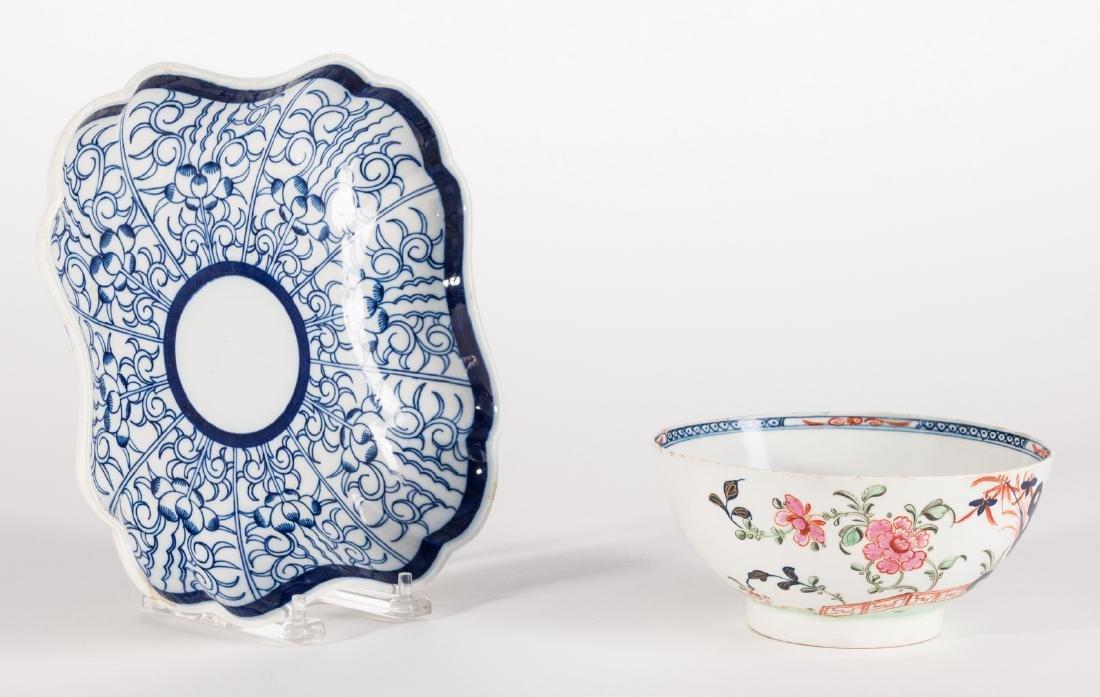 Creamware Hunt Jug, Dr. Wall Dish and Pearlware Bowl - 7