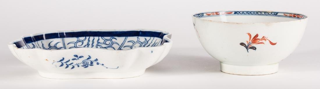 Creamware Hunt Jug, Dr. Wall Dish and Pearlware Bowl - 8