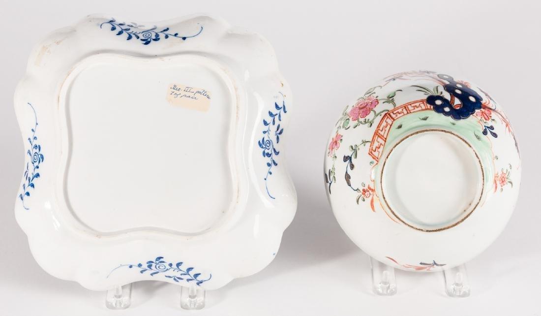 Creamware Hunt Jug, Dr. Wall Dish and Pearlware Bowl - 9