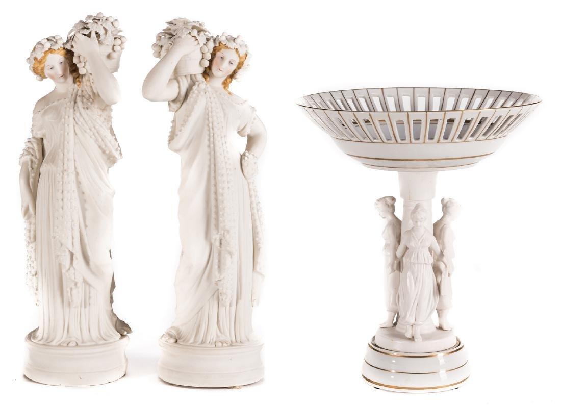 European Figural Centerpiece & Pr. Neoclassical