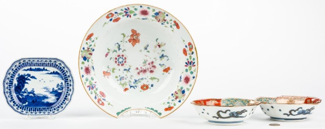 4 pcs Asian Porcelain inc. 18th c. Barber or Bleeder