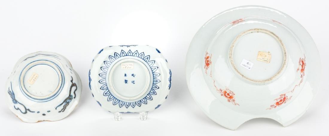 4 pcs Asian Porcelain inc. 18th c. Barber or Bleeder - 4