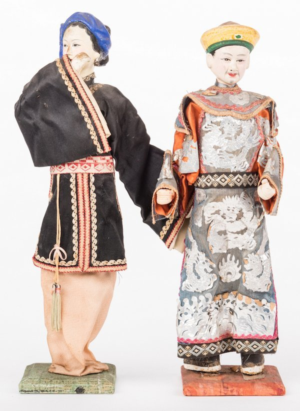 16 Vintage Chinese Dolls, Accessories & Carvings, 17 - 5