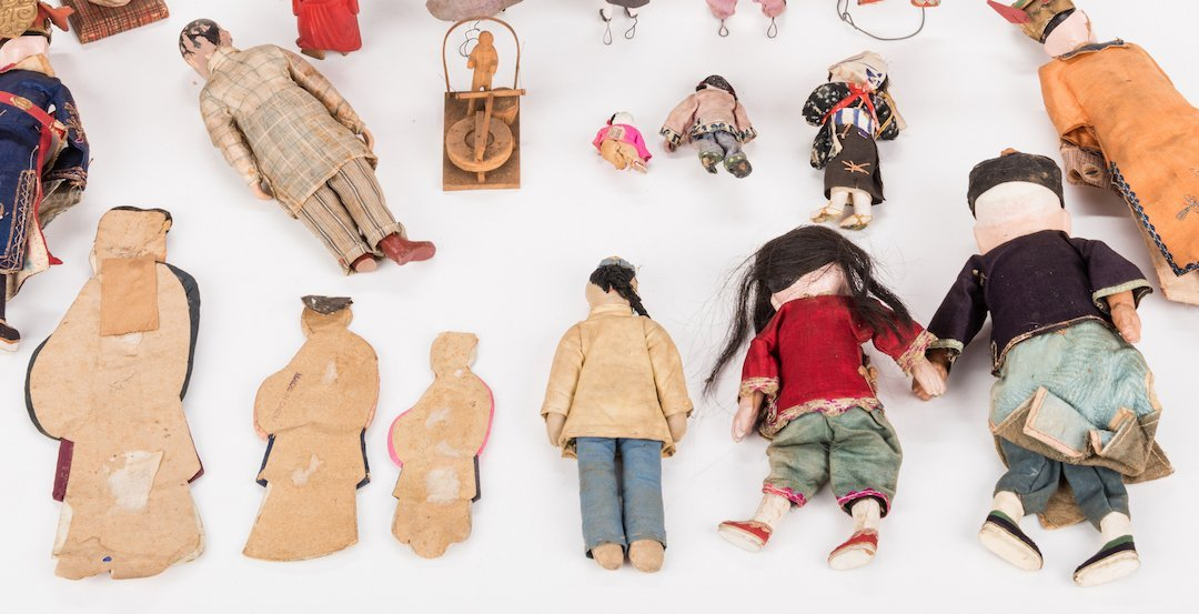 16 Vintage Chinese Dolls, Accessories & Carvings, 17 - 7