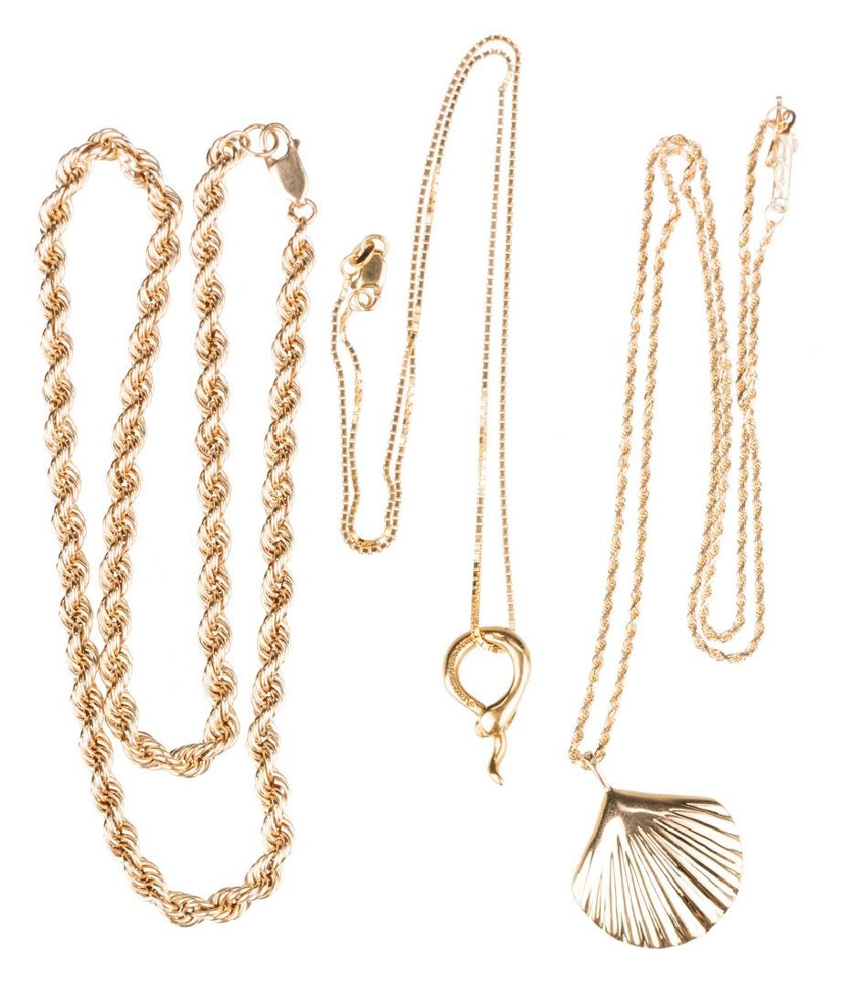 Tiffany plus other Gold Jewelry, 3 items