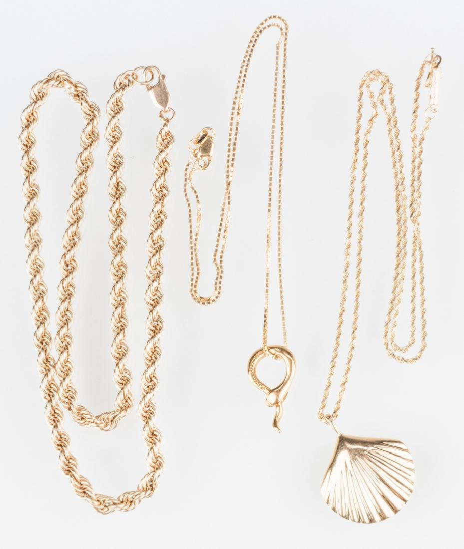 Tiffany plus other Gold Jewelry, 3 items - 6
