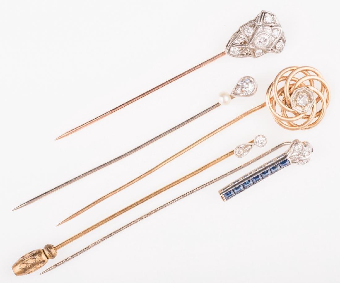 14K & 10K Vintage Jewelry w/ Diamonds, 7 items - 3
