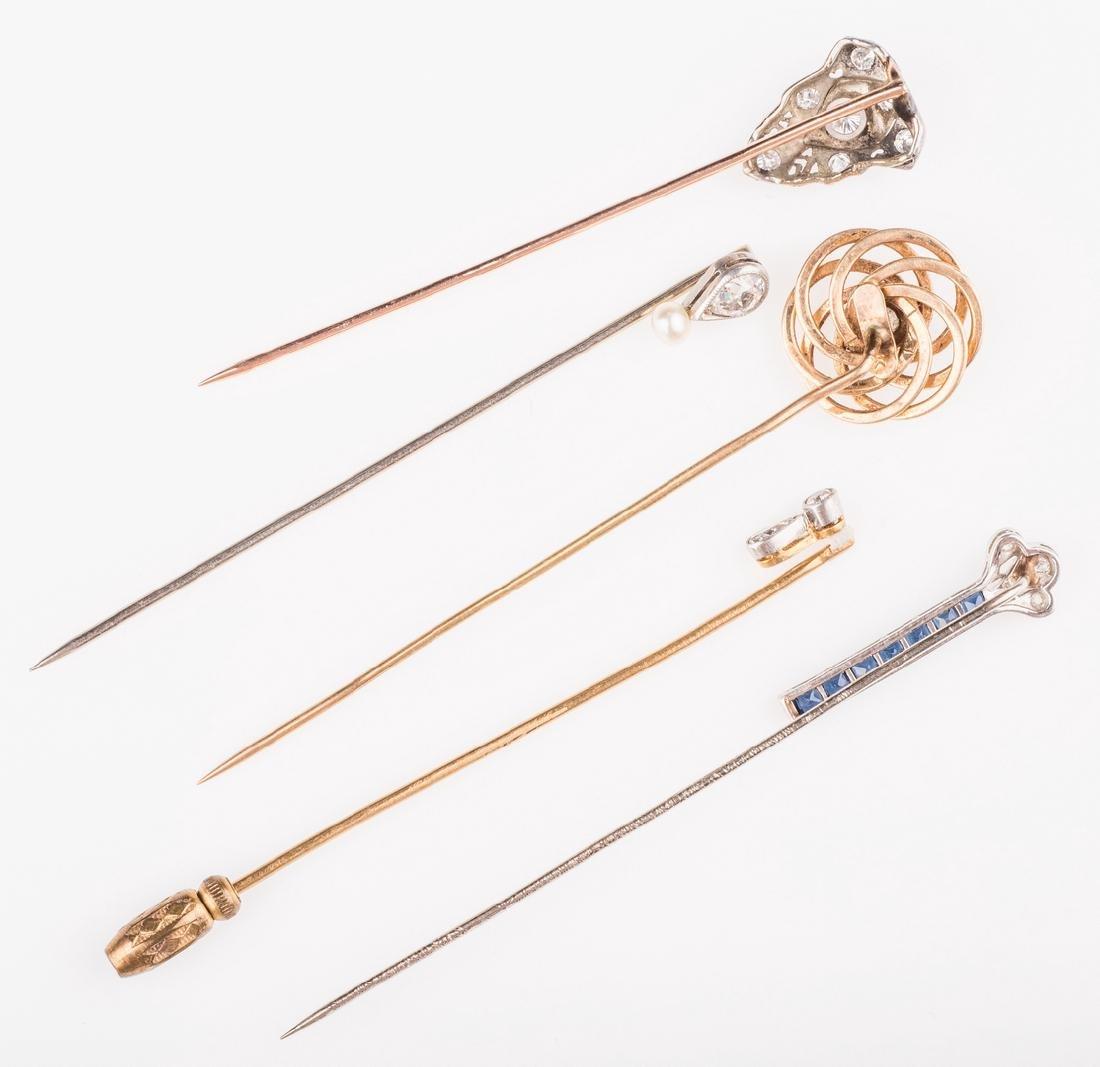14K & 10K Vintage Jewelry w/ Diamonds, 7 items - 4