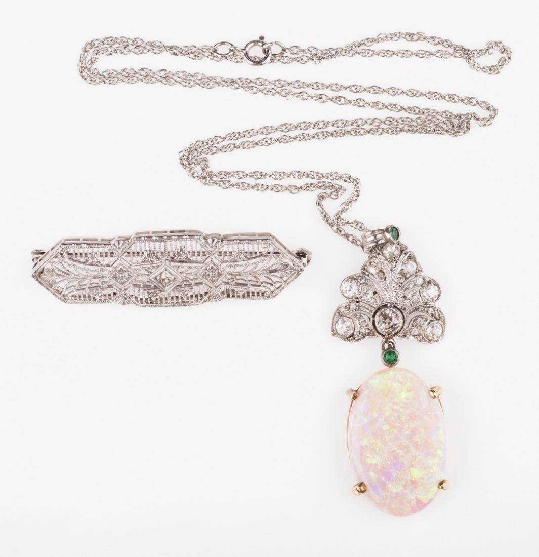 14K & 10K Vintage Jewelry w/ Diamonds, 7 items - 5