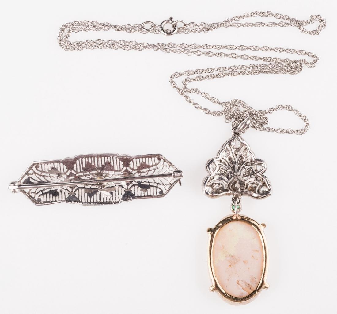 14K & 10K Vintage Jewelry w/ Diamonds, 7 items - 6
