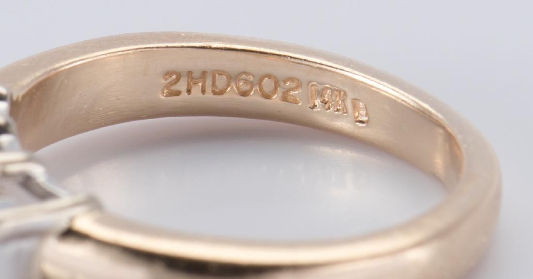14K 3-stone Princess Diamond Ring - 6