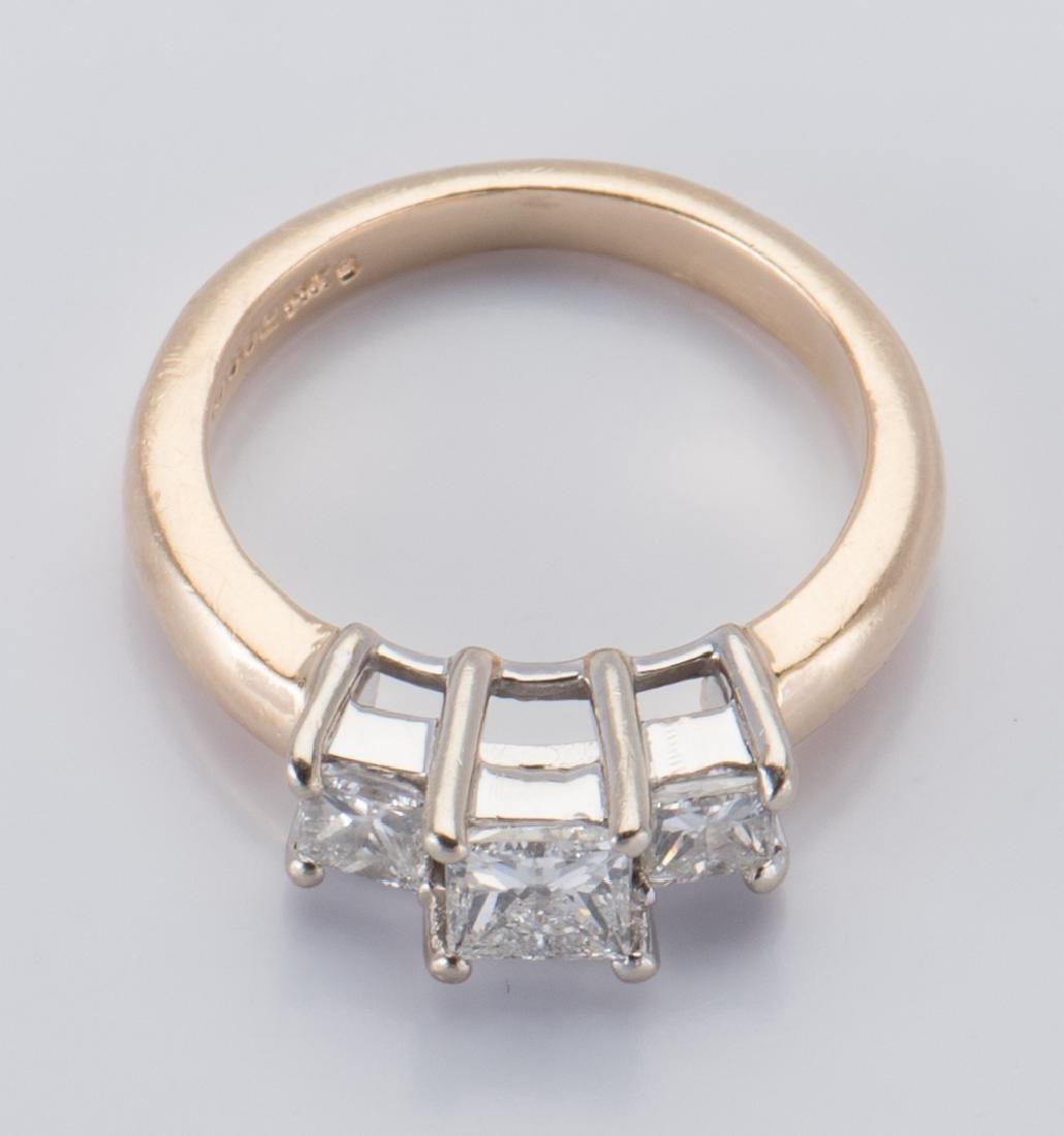 14K 3-stone Princess Diamond Ring - 7