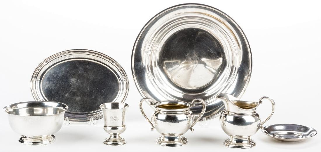 8 Pieces Sterling Silver Hollowware inc. Kirk Bowl - 3