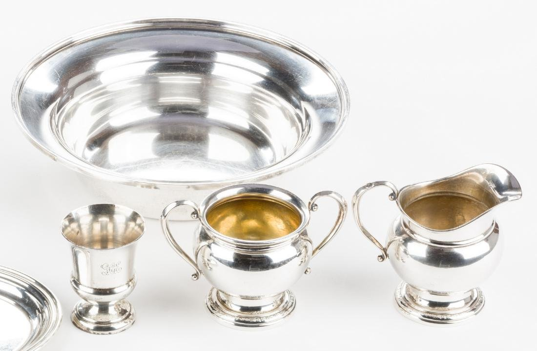 8 Pieces Sterling Silver Hollowware inc. Kirk Bowl - 5