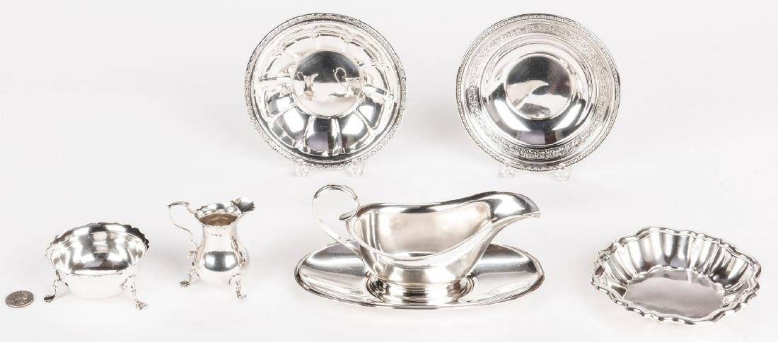 Assorted Sterling incl. Kirk Gravy Bowl, 7 pcs