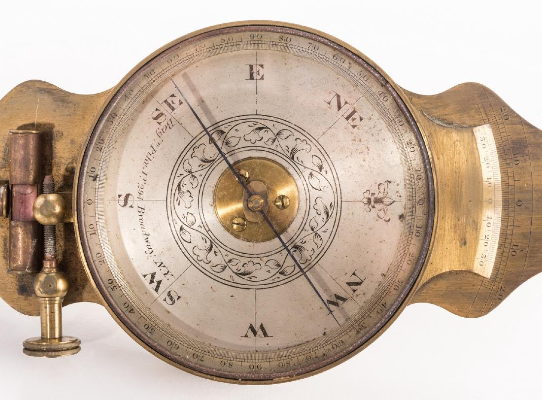 19th Cent. Brass Surveyor's Compass, Benjamin Pike - 3