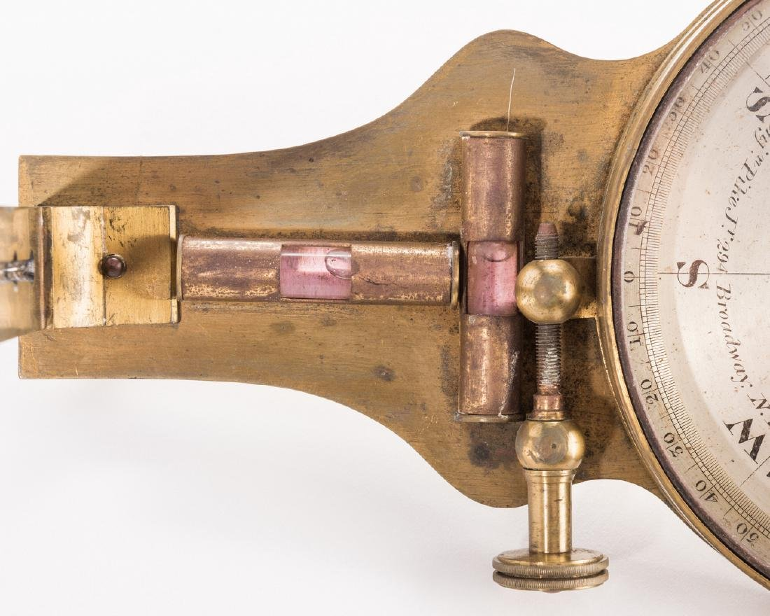 19th Cent. Brass Surveyor's Compass, Benjamin Pike - 4