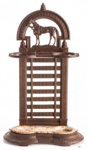 Victorian Cast Iron Horse Umbrella Stand