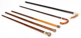 Group Of 5 Walking Sticks, Inc. Flick Stick