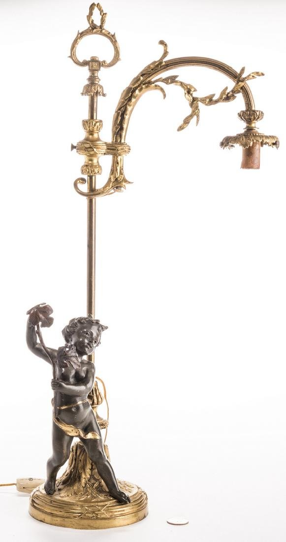 French Neoclassical Bronze Lamp