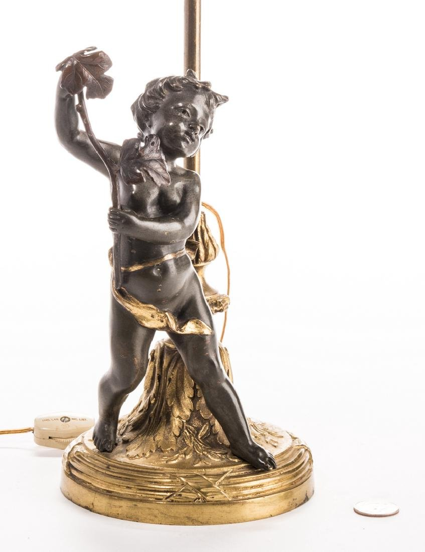 French Neoclassical Bronze Lamp - 2