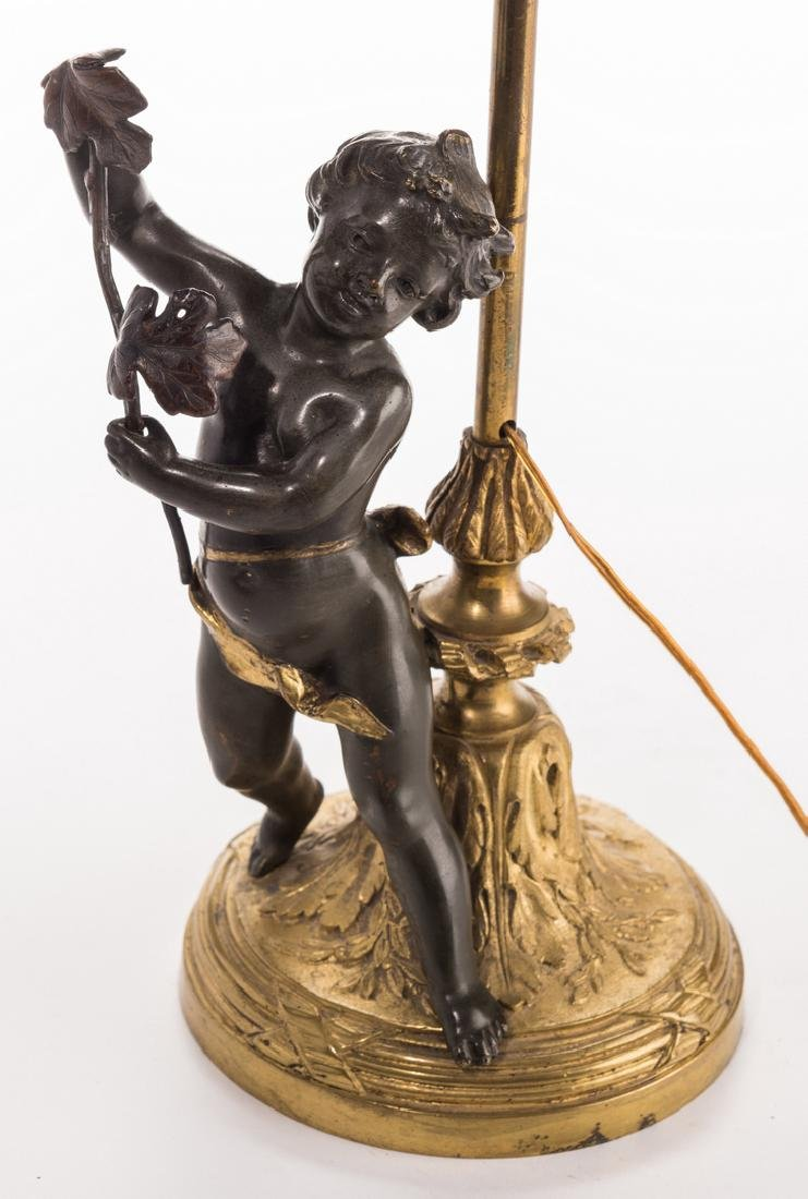 French Neoclassical Bronze Lamp - 3