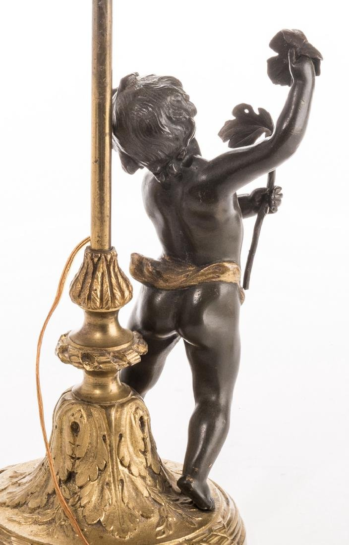 French Neoclassical Bronze Lamp - 4
